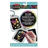 Melissa & Doug Scratch Art Key Chain Party Pack Activity Kit - 6 Keychains