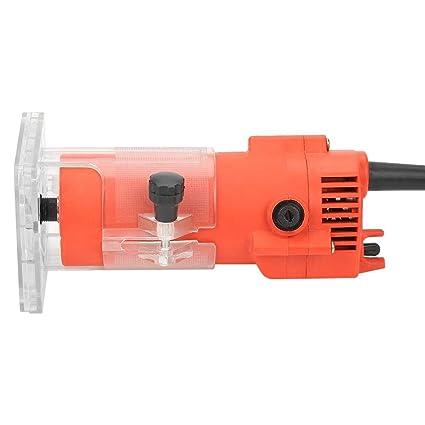 Laminador de madera 800 W, 1//4, fresadora el/éctrica de mano, cortador de cantos, cortador de madera, cortador de madera, manual Amscan