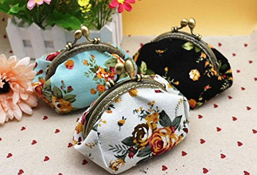 Black Wallet Lady Small Flower Hasp Vintage Hot Purse New Clutch Baigood Blue Retro Bag Women Sales IBBqAwz6