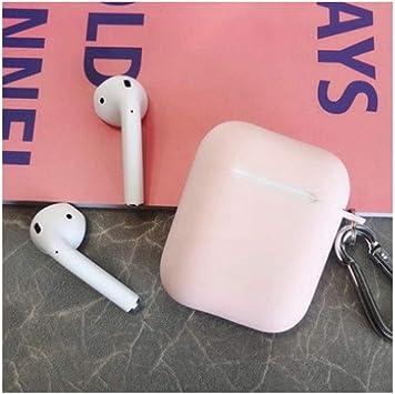 YNuo Funda para Auriculares, Funda Gris de Silicona para Airpods, Mate sin Cenizas de Segunda generación (Gris) Bluetooth Caja de Auriculares Airbag: Amazon.es: Electrónica