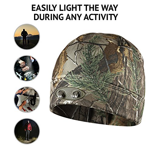 Panther Vision CUBWB-4539 Hand Free 4 LED Headlamp Beanie Cap, ( RealTree...