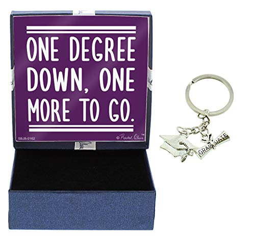 - Grad Gifts One Degree Down One More to Go Jewelry Box and Graduation Keychain Graduate Key Ring Grad