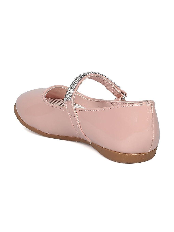 Little Angel CA03 Patent Flat Mary Jane Ballerina Blush