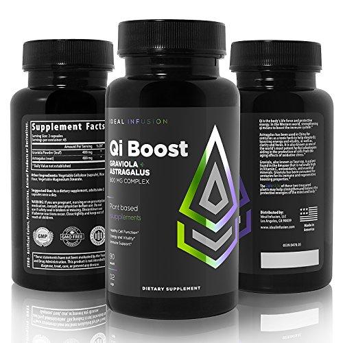 Immune System Support – Cortisol Blocker – Clarity & Focus – Graviola Leaf and Astragalus Root Powder, Vegan (45 Servings) For Sale