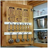 funwallart Set Kitchen Baking Cooking Cups Spoons Vinyl Decals - Measuring CONVERSIONS