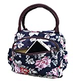 Lunch Bag Lady Flower Tote Bag, Reusable Insulated Bento Lunch Box Waterproof Insulation