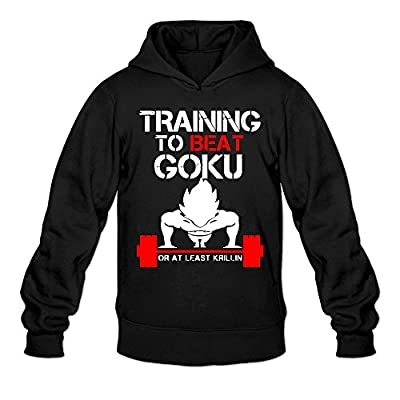 Top QK TRAINING TO BEAT GOKU OR AT LEAST KRILLIN GYM Men's Cool Pullover Hood Black for sale