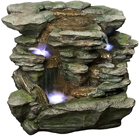 Alpine WIN676 Rock Waterfall with LED Light, White
