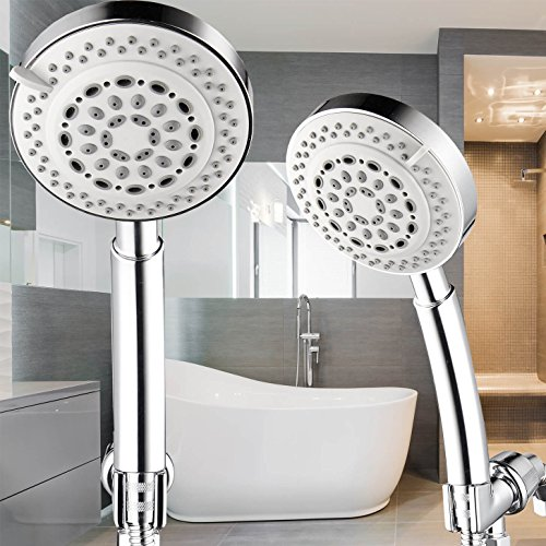 Universal Chrome 8 Function Hand-held Shower Head w/5ft Flexible ...