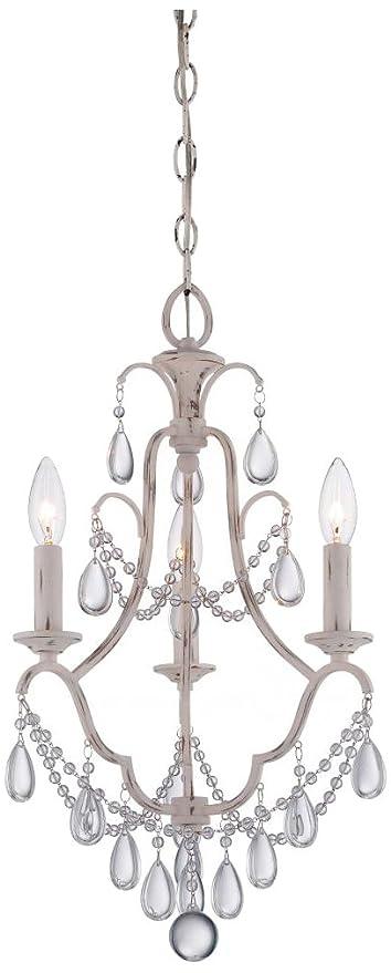 Minka Lavery 3137 648 Mini Chandeliers 3 Light Chandelier In Provencal Blanc
