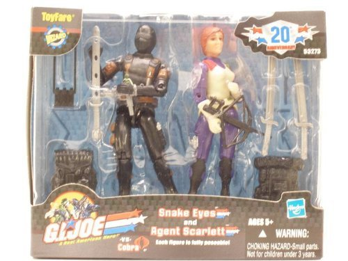 ToyFare Exclusive G.I. Joe Agent Scarlett & Snake Eyes Action Figures 2-Pack -