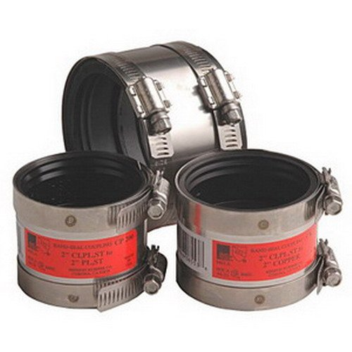 """Mission Rubber Band Seal CK-43 Stainless Steel CK Series Specialty Coupling, 4"""" x 3"""""""