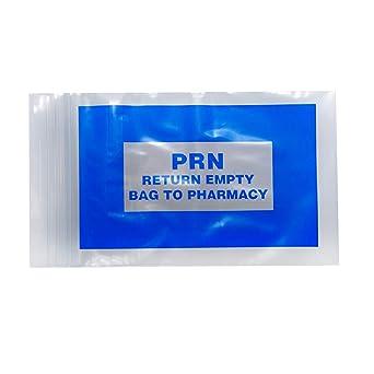 Amazon.com: APQ Pack de 1000 bolsas PRN azules, transparente ...