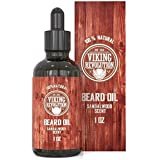BEST DEAL Beard Oil Conditioner - All Natural Sandalwood Scent with Organic Argan & Jojoba Oils - Softens & Strengthens Beards and Mustaches for Men (Sandalwood, 1 Pack)