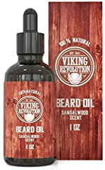 Experience the quality & pride of Viking Revolution. Our all natural organic beard oil is made for all types of beards - long, short, red, white, black, and brown. Whether you're a man of the town or like to rip through the wind on your m...