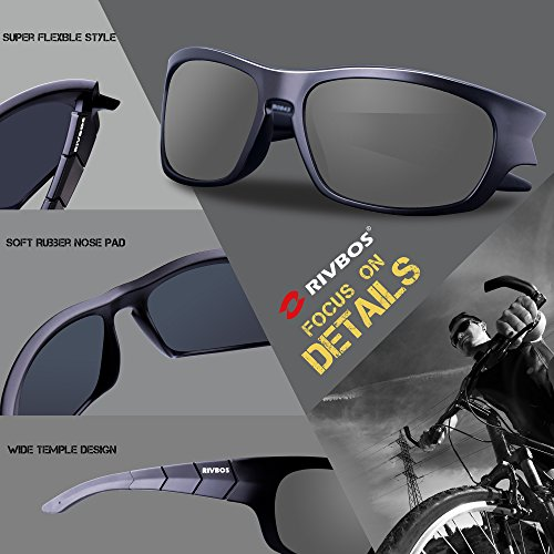 sports glasses 2j6b  RIVBOS RB302 Polarized Sports Glasses Casual Cycling Sunglasses  well-wreapped