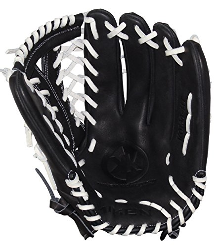 Miken KO Series Slowpitch Throw Fielding Gloves, 13-Inch, Black, Left