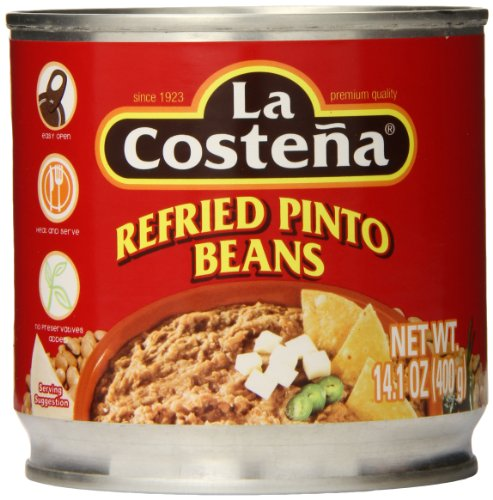 La Costena Refried Pinto Beans, 14.1 Ounce (Pack of 12) by La Costena