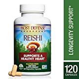 Host Defense – Reishi Mushroom Capsules, Naturally Supports a Healthy Heart and Cardiovascular System, Energy, Stamina, and Stress Response, Non-GMO, Vegan, Organic, 120 Count For Sale