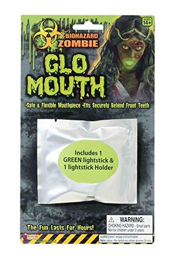 [F68614 Biohazard Zombie Mouth Glow Light Up] (Biohazard Costumes)