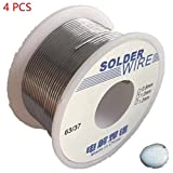 4Pcs 50G 0.8/1.0Mm Tin Solder Wire Rosin Contain Non-Corrosive For Welding Appliances Repair Sn 45% Pb 55% Flux 1.8% Hxs02X4 1-0.8Mm