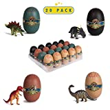 (US) 20 3D Dinosaur Puzzles In Dino Eggs - Jurassic Egg With Dinosaur Figures- Dinosaurs Toys For Kids Party Favors And Dinosaur Party, Easter Basket Fillers Easter Eggs Toys For Boys