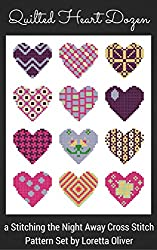 Quilted Heart Dozen Cross Stitch Pattern