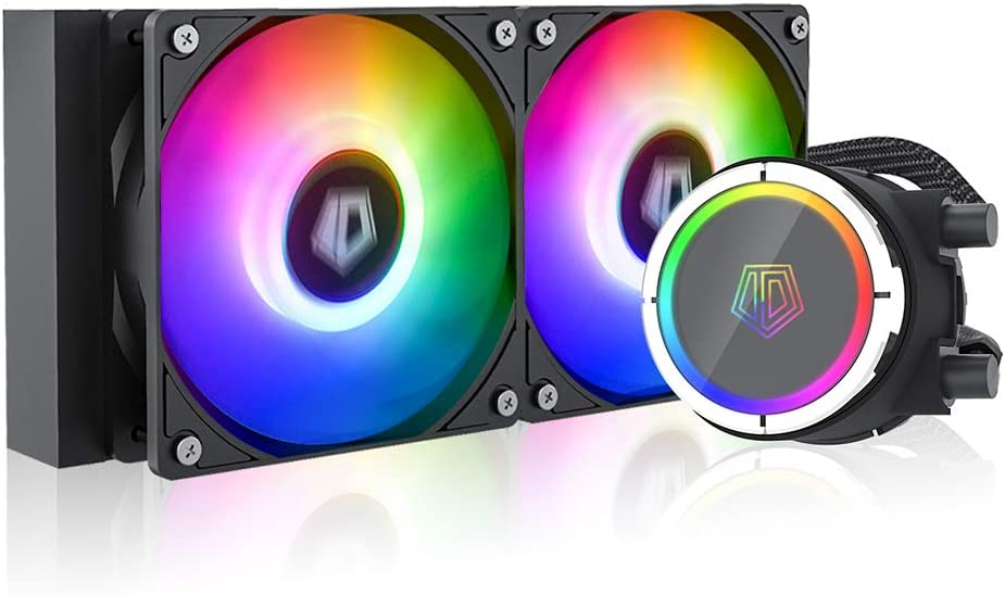 ID-COOLING ZOOMFLOW 240X ARGB CPU Water Cooler 5V Addressable RGB AIO Cooler 240mm CPU Liquid Cooler 2X120mm RGB Fan, Intel 115X/2066, AMD TR4/AM4