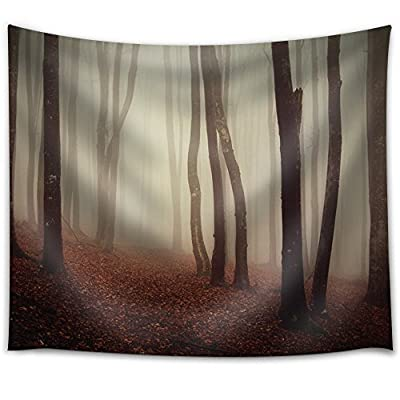 Stunning Composition, Created By a Professional Artist, Leaves Covering The Floor in a Forest on a Misty Day