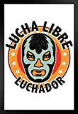 Lucha Libre Luchador Mexican Wrestling Mask Illustration Art Print Framed Poster 14x20 inch