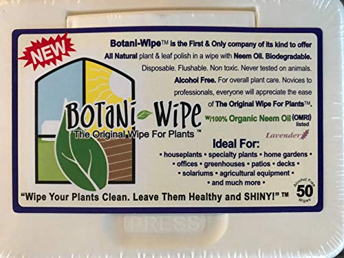 Shoppy Star SEMILLAS DE GERMINACION: Botani Wipes - Aceite de neem, biodegradable - Cuidado de las plantas de orquídeas