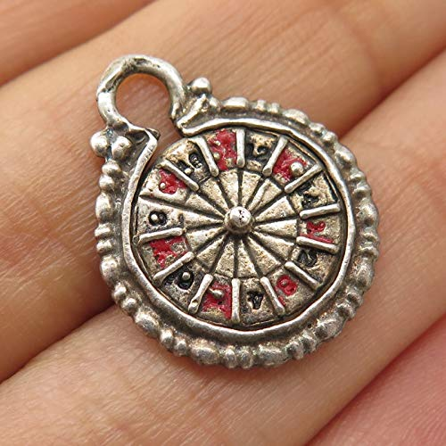 VTG 925 Sterling Silver Roulette Casino Pendant Jewelry Making Supply by Wholesale Charms ()