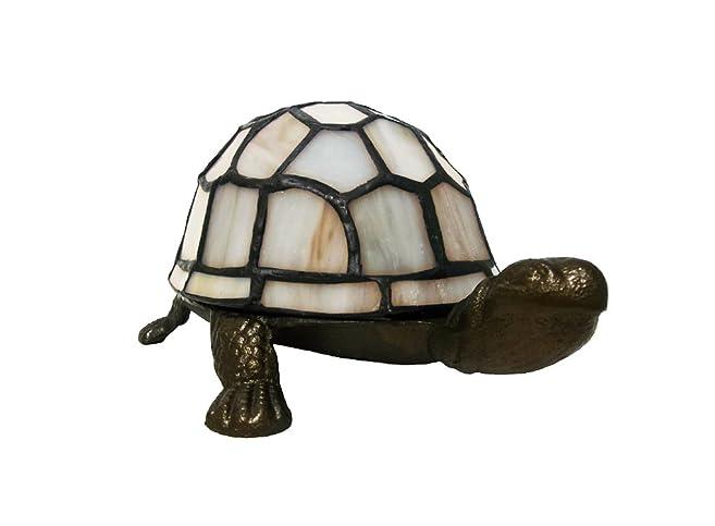 Tiffany Style Cream Tortoise Turtle Table Lamp: Amazon.co.uk: Lighting