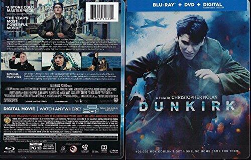 Dunkirk 2017 Exclusive Steelbook  Blu Ray Dvd Digital