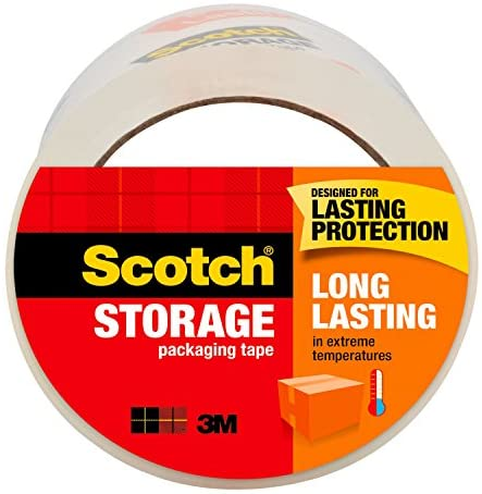 Scotch Long Lasting Storage Packaging Tape 1.88 in. x 54.6 yd 1 Roll/Pack
