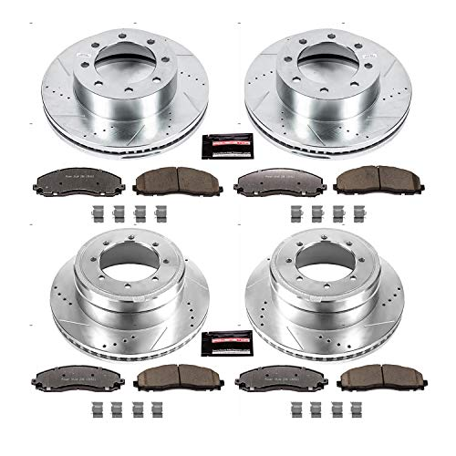 (Power Stop K6404-36 Front and Rear Z36 Truck and Tow Brake Kit)