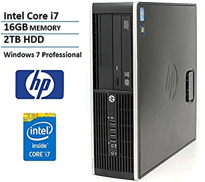 HP Elite 8200 SFF High Performance Business Desktop Computer (Intel Quad Core i7-2600 Up to 3.8GHz , 2TB SATA Hard Drive, 16GB Memory, DVDRW, Windows 7 Professional (Certified Refurbished)