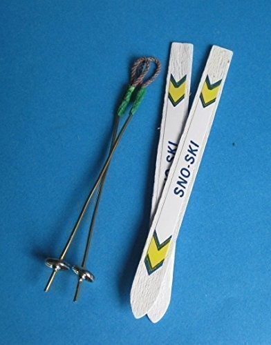 Creal 73008 Ski mit Stöcken 1 Paar 1:12 für Puppenhaus