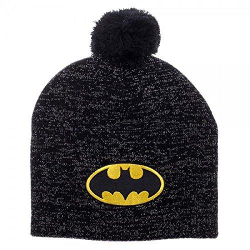 5088bc841 Batman Metallic Glitter Pom Beanie Winter Hat