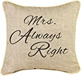 Best Manual Woodworkers Anniversary Gift For A Couples - Manual Woodworkers & Weavers Word Throw Pillow, Mrs Review