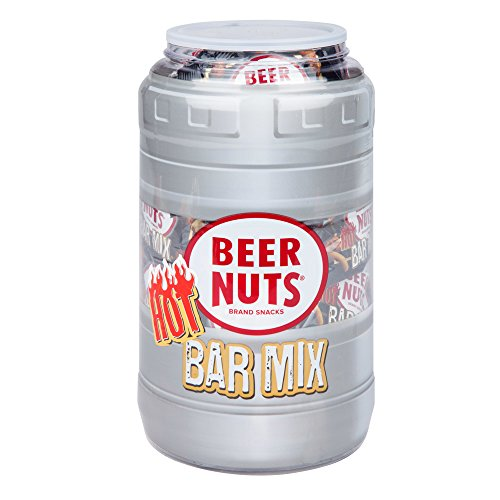 BEER NUTS Hot Bar Mix | 48 Count - .75 oz. Individual Bags - Keg Gift