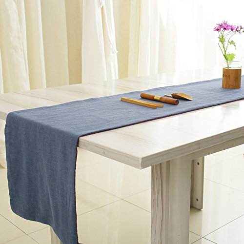 Ramie two-tone cotton and linen/Flag of tea/Tea cloth-C 33x120cm(13x47inch) (Two Tone Gauze)