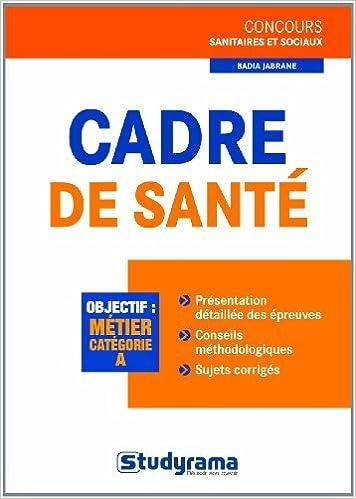 Read Concours cadre de santé epub pdf