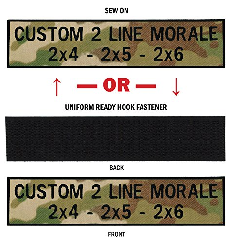 Custom 2 Line Morale Name Tapes with Border, Over 30 Fabrics to choose! Made in USA!! SHIPS UNDER 24 HOURS!