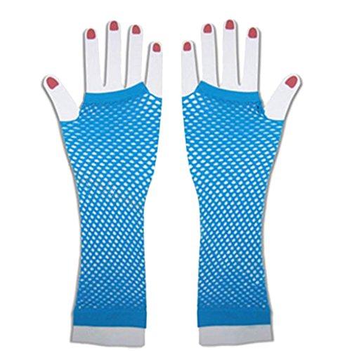 Costume 1980s Fishnet Gloves Fingerless