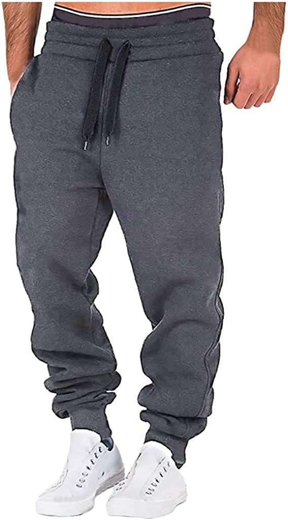 Forthery-Men Joggers Pants Sweatpant Quick Dry Athletic Performance Workout Jogger Sweat Pant