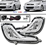 hyundai accent - Remarkable Power FL7099 2012 2013 2014 2015 Hyundai Accent Pair Fog Lights Clear Bumper Lamps Full Kit NEW