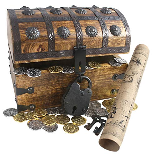 Wooden Pirates Treasure Chest Box 8
