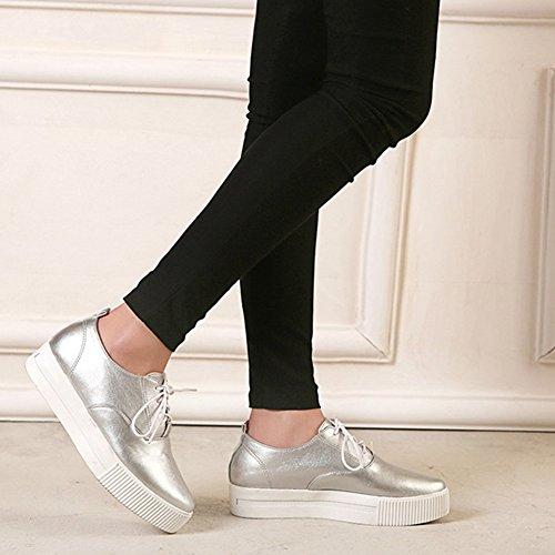 Sneaker Casual Da Donna Con Plateau E Scarpe Piatte Da Ginnastica