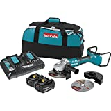 Makita XAG12PT1 18V X2 LXT Lithium-Ion (36V) Brushless Cordless 7'' Paddle Switch Cut-Off/Angle Grinder Kit, with Electric Brake (5.0Ah)